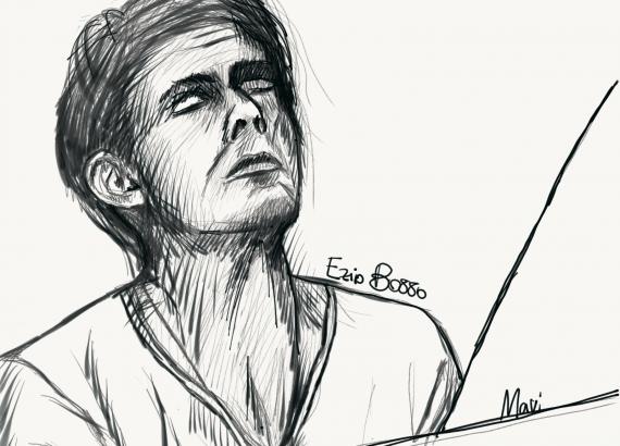 Ezio Bosso, disegno di Marianna Franza ©